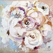 Картины и панно handmade. Livemaster - original item Oil painting with flowers