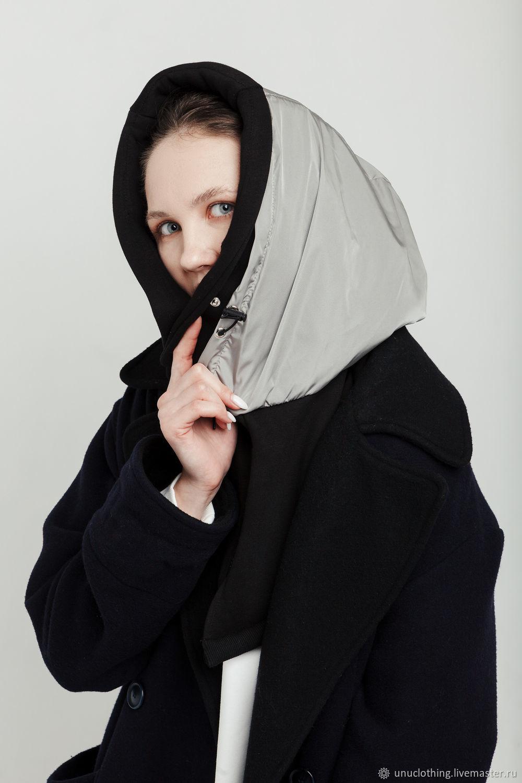 Капюшон женский серый с плащевкой, Капоры, Москва,  Фото №1