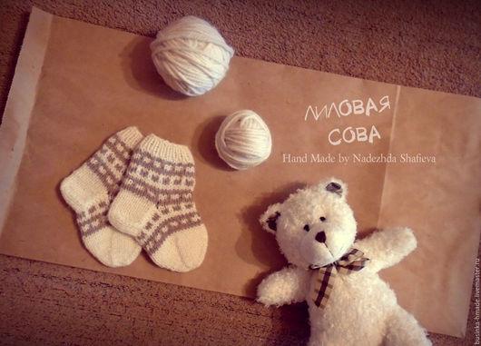 Носки, гольфы, гетры ручной работы. Ярмарка Мастеров - ручная работа. Купить Носочки для малыша. Handmade. Комбинированный, носочки