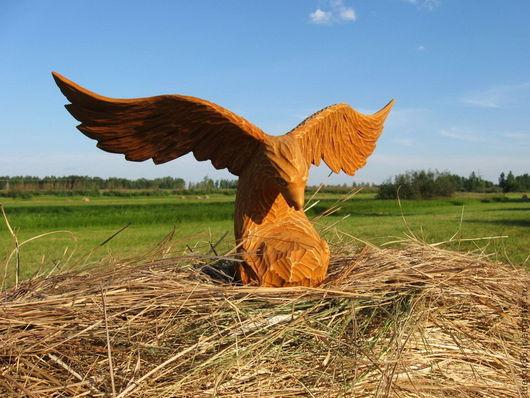 Статуэтки ручной работы. Ярмарка Мастеров - ручная работа. Купить Орел из дерева. Handmade. Орел из дерева, птица из дерева