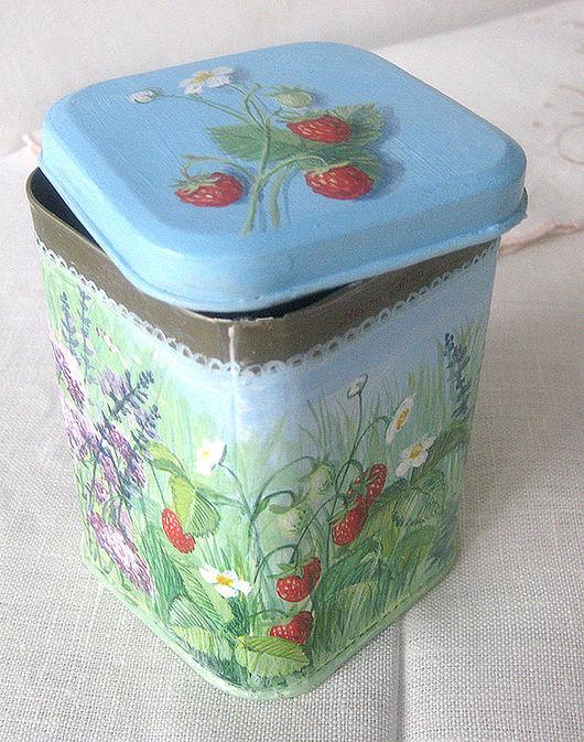 """Кухня ручной работы. Ярмарка Мастеров - ручная работа. Купить коробочка для чая """"Травы"""". Handmade. Подарок на новый год, лак акриловый"""