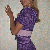 Одежда ручной работы. Ярмарка Мастеров - ручная работа Французская история. Платье цвета фиолет. Handmade.