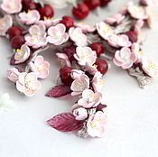 Украшения handmade. Livemaster - original item Floral necklace bracelet earrings