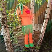 Дизайн и реклама ручной работы. Ярмарка Мастеров - ручная работа Чучело садовое Морковка-кокетка. Handmade.