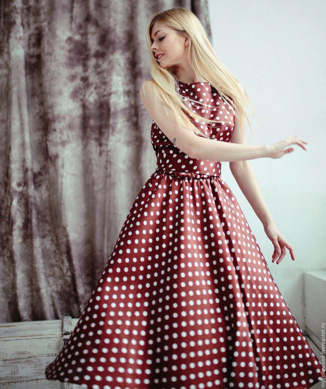 Платье как у красотки в горошек купить в