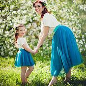 Одежда ручной работы. Ярмарка Мастеров - ручная работа Фатиновые юбки Family Look. Handmade.