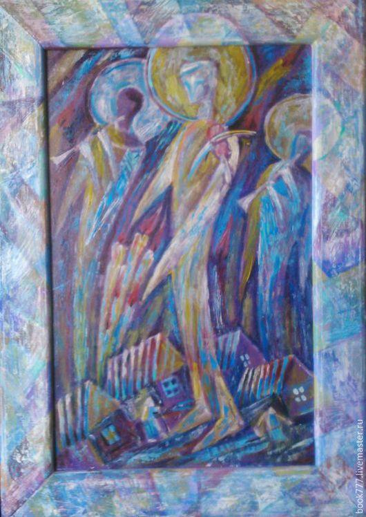 """Символизм ручной работы. Ярмарка Мастеров - ручная работа. Купить """" Мерцание звуков - II """". Handmade. Фиолетовый"""