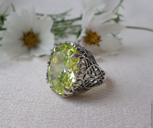 Кольца ручной работы. Ярмарка Мастеров - ручная работа. Купить Винтажное кольцо с крупным камнем. Handmade. Кольцо с камнем