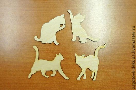 Набор Кошки (в наборе 4 шт.) Материал: фанера 3 мм