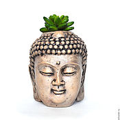 Цветы и флористика handmade. Livemaster - original item Buddha planters for cacti and succulents pot Head Buddha. Handmade.