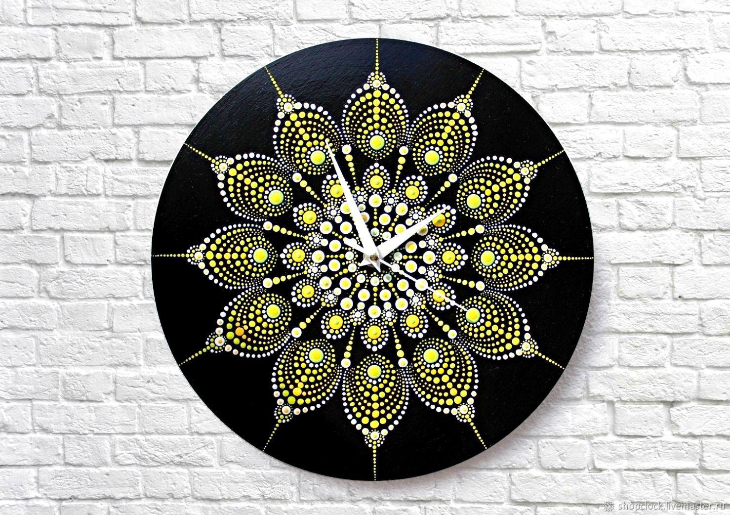 Clock dot Mandala diameter 30 cm. In stock, Watch, Novosibirsk,  Фото №1