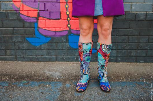 Обувь ручной работы. Ярмарка Мастеров - ручная работа. Купить Летние сапоги 5-227 (ВЧ). Handmade. Летние сапоги