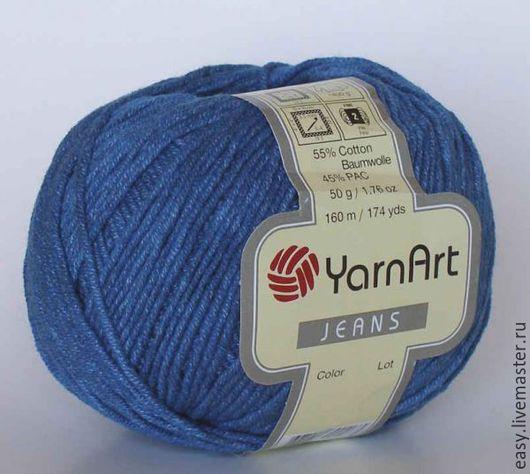 Вязание ручной работы. Ярмарка Мастеров - ручная работа. Купить Пряжа Jeans YarnArt (хлопок с полиакрилом). Handmade. Комбинированный, белый