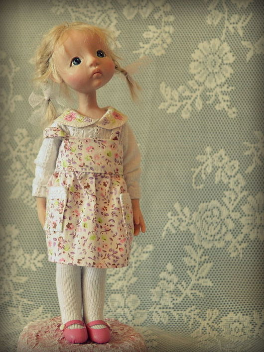 Коллекционные куклы ручной работы. Ярмарка Мастеров - ручная работа. Купить Воробушек. Handmade. Бледно-розовый, память