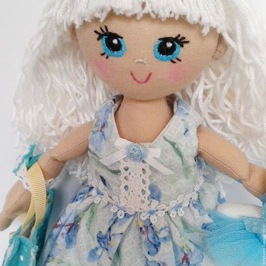 Человечки ручной работы. Ярмарка Мастеров - ручная работа. Купить Алиса - игровая кукла. Handmade. Голубой, хлопок корейский