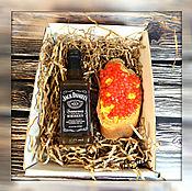 Косметика ручной работы. Ярмарка Мастеров - ручная работа Набор виски Джек денилс и бутерброд с икрой в коробочке. Handmade.