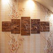 Картины и панно handmade. Livemaster - original item Elephants from 5 paintings. Handmade.