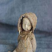 Куклы и игрушки ручной работы. Ярмарка Мастеров - ручная работа Ло, тедди долл 13см. антик. Handmade.