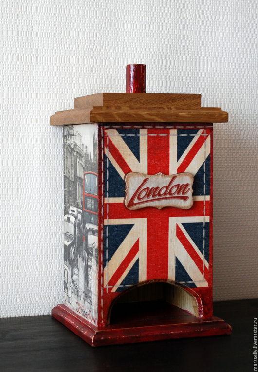"""Кухня ручной работы. Ярмарка Мастеров - ручная работа. Купить чайный домик """"LONDON"""". Handmade. Комбинированный, дуб, акриловый лак"""