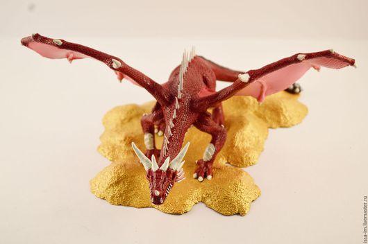 Статуэтки ручной работы. Ярмарка Мастеров - ручная работа. Купить Красный Дракон. Handmade. Комбинированный, ручная работа, хранитель