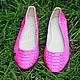 Handmade Shoes handmade. Livemaster - handmade. Buy ballet flats python skin fuchsia. inside lining made of leather.