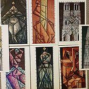 Открытки ручной работы. Ярмарка Мастеров - ручная работа Линеарные авторские открытки. Handmade.