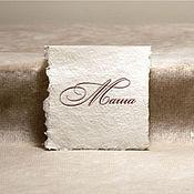 Свадебный салон ручной работы. Ярмарка Мастеров - ручная работа Открытка, рассадочная карточка. Handmade.