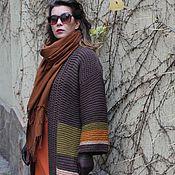 """Одежда ручной работы. Ярмарка Мастеров - ручная работа Кардиган вязаный  """"Поздняя Осень"""". Handmade."""