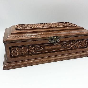 Для дома и интерьера ручной работы. Ярмарка Мастеров - ручная работа Шкатулка для украшений из натурального бука. Handmade.