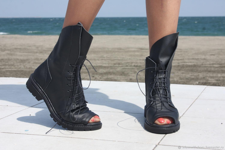 9f20e78d1 Купить Летние сапоги ботинки на шнуровке · Обувь ручной работы. Летние  сапоги ботинки на шнуровке и на платформе. inlovewithshoes.
