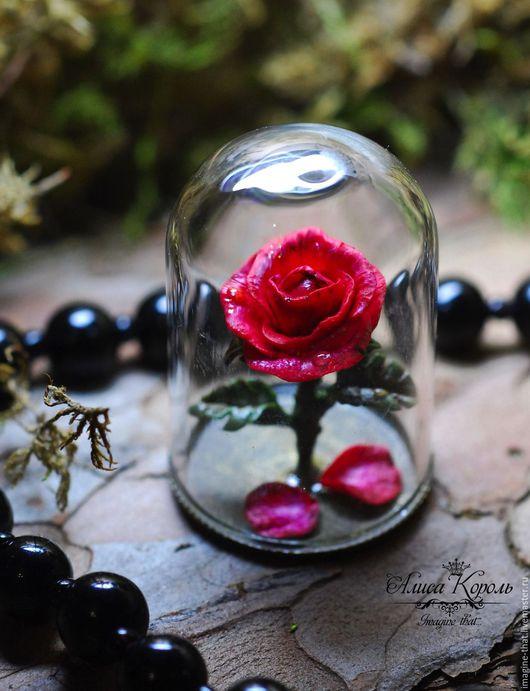 """Статуэтки ручной работы. Ярмарка Мастеров - ручная работа. Купить Роза из """"Красавицы и Чудовища"""" маленькая, декор. Handmade. Бордовый"""