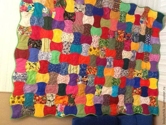 """Текстиль, ковры ручной работы. Ярмарка Мастеров - ручная работа. Купить лоскутное покрывало  одеяло """"Огрызок яблока"""". Handmade."""