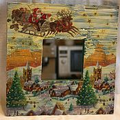 Для дома и интерьера ручной работы. Ярмарка Мастеров - ручная работа Зеркало в раме № 1. Handmade.