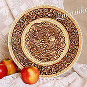 Посуда handmade. Livemaster - original item Round dish made of birch bark