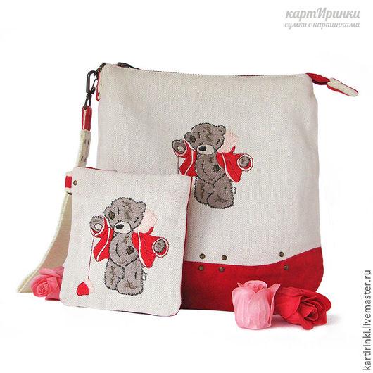 Женские сумки ручной работы. Ярмарка Мастеров - ручная работа. Купить набор сумочек Тедди. Handmade. Сумочка, сумка из ткани