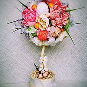 Топиарии ручной работы. Ярмарка Мастеров - ручная работа Топиарии: Хризантемка. Handmade.