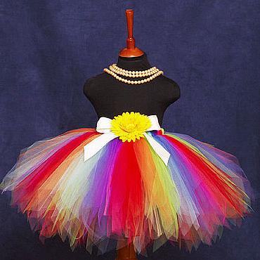 """Работы для детей, ручной работы. Ярмарка Мастеров - ручная работа """"Фея веселой радуги"""" пышная юбка-пачка из фатина. Handmade."""