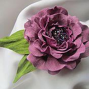 Украшения ручной работы. Ярмарка Мастеров - ручная работа Брошь (заколка) Королевский пурпур. Handmade.