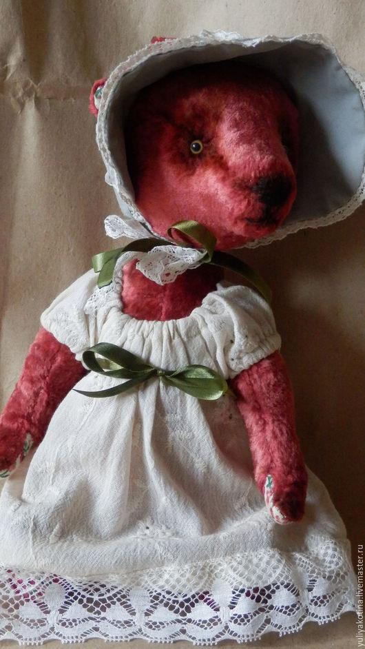 Мишки Тедди ручной работы. Ярмарка Мастеров - ручная работа. Купить Медведица Жозефина. Handmade. Коралловый, медведи, плюш винтажный