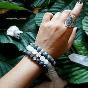 Украшения ручной работы. Ярмарка Мастеров - ручная работа браслет из лабрадорита,лунного камня,лаврикита. Handmade.