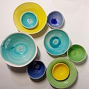 """Посуда ручной работы. Ярмарка Мастеров - ручная работа пиалы """"цветные"""". Handmade."""
