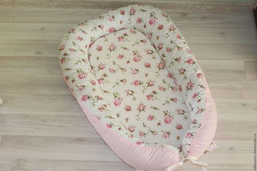 Для новорожденных, ручной работы. Ярмарка Мастеров - ручная работа. Купить Гнездышко для новорожденного. Handmade. Розовый, гнездышко, подарок беременной