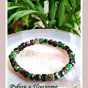 Украшения handmade. Livemaster - original item Bracelet of ruby in zoisite.. Handmade.