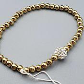 Украшения handmade. Livemaster - original item Silver bracelet with Swarovski crystals. Handmade.