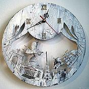 Для дома и интерьера handmade. Livemaster - original item Wall clock White nights of St. Petersburg. Handmade.