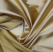 Материалы для творчества ручной работы. Ярмарка Мастеров - ручная работа Плотный атлас-стрейч (ватусса), цвет неаполитанский желтый 1190руб-м. Handmade.