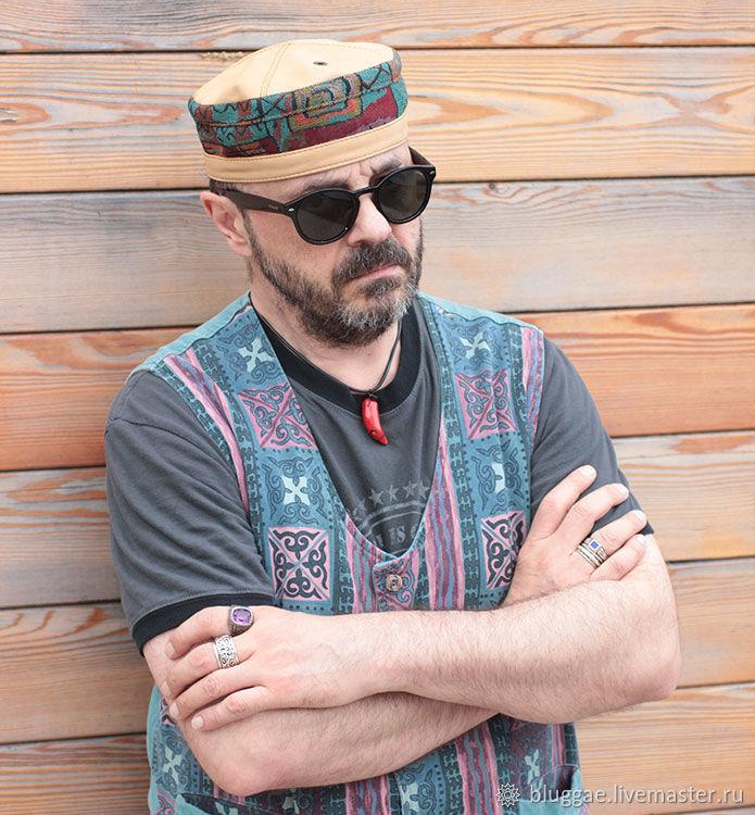 29dd69f0888fe Buy African ethnic kufi hat in denim TLB- Hats handmade. African ethnic kufi  hat in denim TLB-HAT-02.