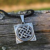 Украшения handmade. Livemaster - original item Amulet Star Of Russia. The Square Of Svarog. 925 sterling silver. Handmade.
