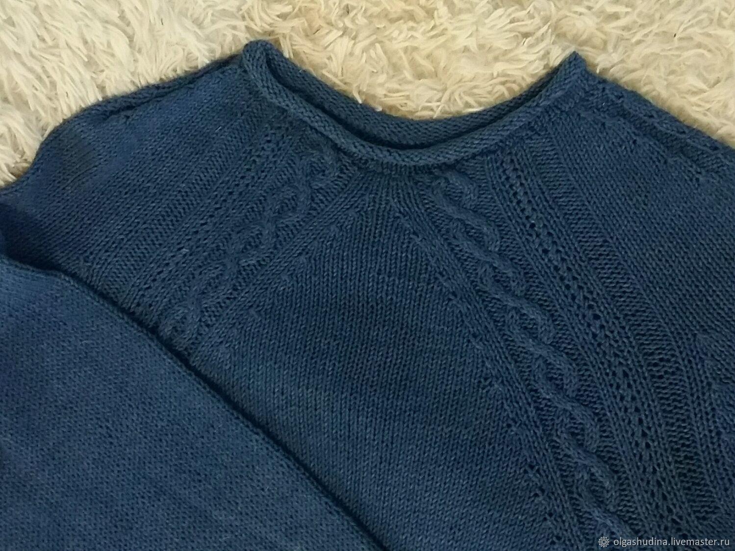Мужской джемпер из 100%хлопка(джинс), Джемперы, Нижний Тагил, Фото №1