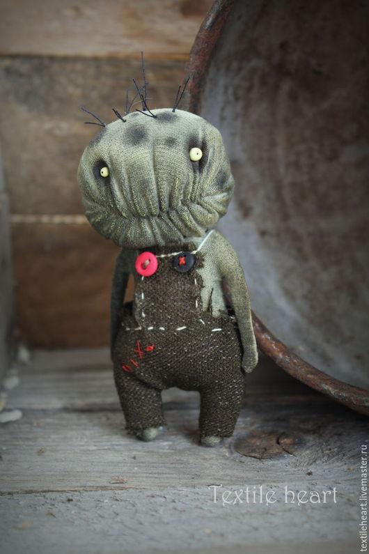 Коллекционные куклы ручной работы. Ярмарка Мастеров - ручная работа. Купить Little Zombie.... Handmade. Хаки, чердачные монстры, ужасы